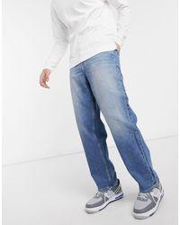 Jeans skater lavaggio blu di Collusion in Blue da Uomo