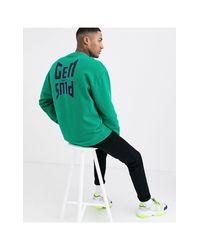 Sudadera extragrande verde con estampado Gen Plus ASOS de hombre de color Green