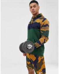 Nike Hoodie Met Camouflageprint in het Brown voor heren