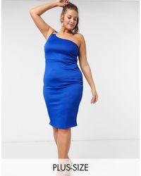 Simply Be Blue – Kobaltblaues Kleid mit One-Shoulder-Träger