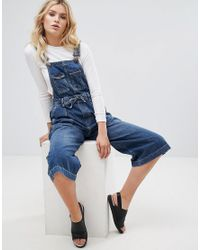 Pepe Jeans Blue Colette Wide Leg Dungaree's