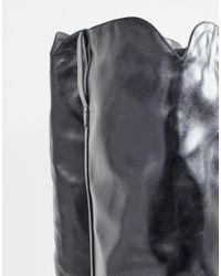 Черные Ботфорты На Конусообразном Каблуке Lamoda, цвет: Multicolor