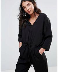 ONLY - Black Ace Kimono Jumpsuit - Lyst