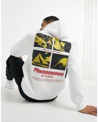 Topman White Phenomenon Print Hoodie for men