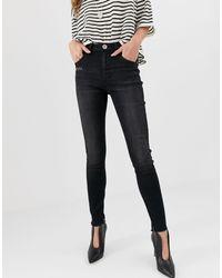 Freebird - Jeans skinny a vita alta di One Teaspoon in Black