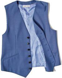 Reiss - Blue Suit Waistcoat In Regular Fit for Men - Lyst
