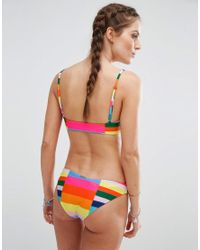 Mara Hoffman Multicolor Rainbow Colourblock Bikini Top