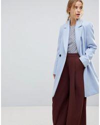 Miss Selfridge Blue Tailored Coat