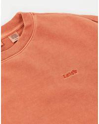 Свободный Свитшот Выбеленного Оранжевого Цвета С Круглым Вырезом Melrose-розовый Levi's, цвет: Orange