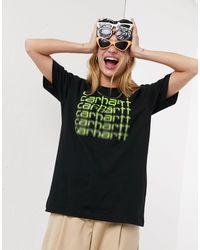 T-shirt oversize con logo ripetuto di Carhartt WIP in Black