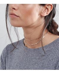 ASOS - Multicolor Pack Of 2 Open Chain Choker Necklaces - Lyst