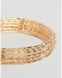 ASOS - Metallic Design Pack Of 9 Bamboo Bangle Bracelets - Lyst