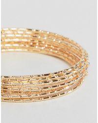 ASOS - Metallic Pack Of 9 Bamboo Bangle Bracelets - Lyst