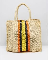 Warehouse | Natural Slouchy Straw Tote Bag | Lyst