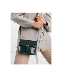 Зеленая Сумка-портфель Со Змеиным Узором ASOS, цвет: Green