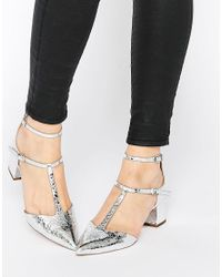 ASOS Metallic Asos Switch It On Pointed Heels
