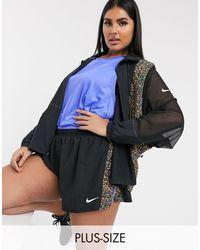 Nike Black Plus Jacket With Printed Panels