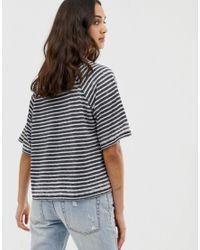T-shirt coupe droite à rayures effet dévoré ASOS en coloris Multicolor