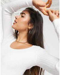 Легкий Джемпер С Овальным Вырезом -белый Fashion Union, цвет: White