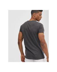 T-shirt slim grigia di Pull&Bear in Gray da Uomo