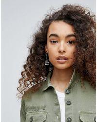 Ashiana | Metallic Double Geo Drop Earrings | Lyst