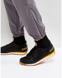 PUMA White X Daily Paper Easy Rider Sock Trainers In Black 36454802 for men