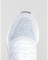 059389cb6 Lyst - adidas Originals Swift Run Primeknit Trainers In White Cg4126 ...