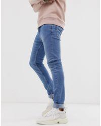 Topman Blue Skinny Jeans for men