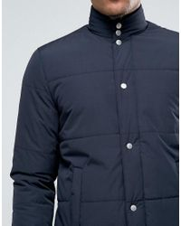 New Look Blue Quilted Jacket In Navy for men