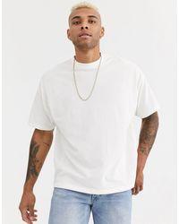 Camiseta extragrande ASOS de hombre de color White