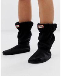 Calcetines para botines con diseño de ochos Hunter de color Black