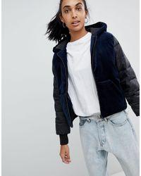 Стеганая Куртка С Бархатной Вставкой Jeans Ono-темно-синий Calvin Klein, цвет: Blue