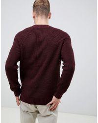 Jersey con manga raglán en burdeos New Look de hombre de color Red