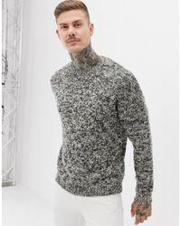 Pull texturé - Avoine ASOS pour homme en coloris Natural