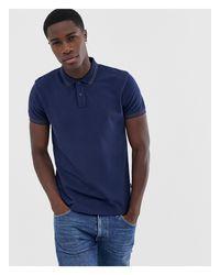 Wrangler Blue Tipped Polo Shirt for men