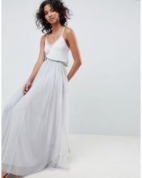 Needle & Thread Blue Tulle Maxi Skirt