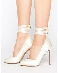 ASOS Natural Pronto Bridal High Heels