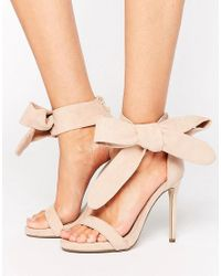 Missguided Natural Barely There Tie Side Sandals