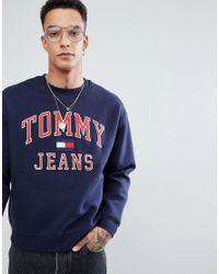 Tommy Jeans À Logo Navy shirt Sweat ORZO6q0