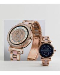 Michael Kors - Metallic Access Mkt5041 Sofie Bracelet Display Smart Watch In Rose Gold/pink 42mm - Lyst