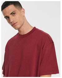 Camiseta en rojo oscuro Great Weekday de hombre de color Red