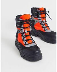 Botas neón planas con cordones y diseño deportivo Advantage ASOS de color Multicolor