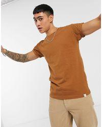 Облегающая Светло-коричневая Футболка -коричневый Pull&Bear для него, цвет: Multicolor