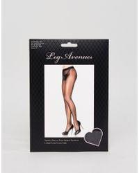Leg Avenue Black Ultra Sheer 15 Denier Tights With Waist Support