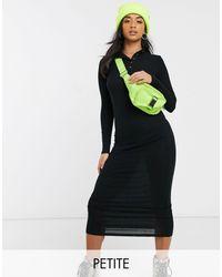 Vestito lungo a coste nero di Noisy May in Black
