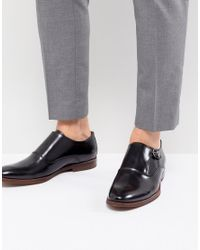ALDO - Catallo Leather Monk Shoes In Black for Men - Lyst