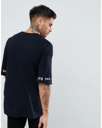 Pull&Bear - T-shirt With Rose Embroidery In Black for Men - Lyst