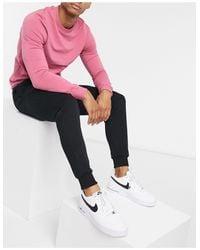 River Island Black Slim Fit Print jogger for men