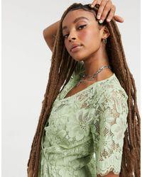 Vestito a portafoglio testurizzato verde di Vero Moda in Green