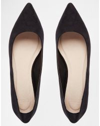 ASOS - Black Lost Pointed Ballet Flats - Lyst